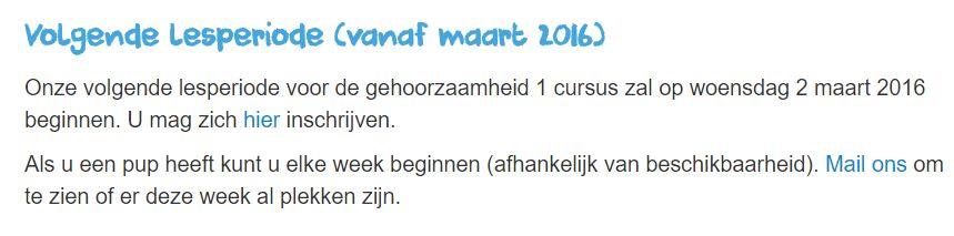 2016 03 Class schedule NL