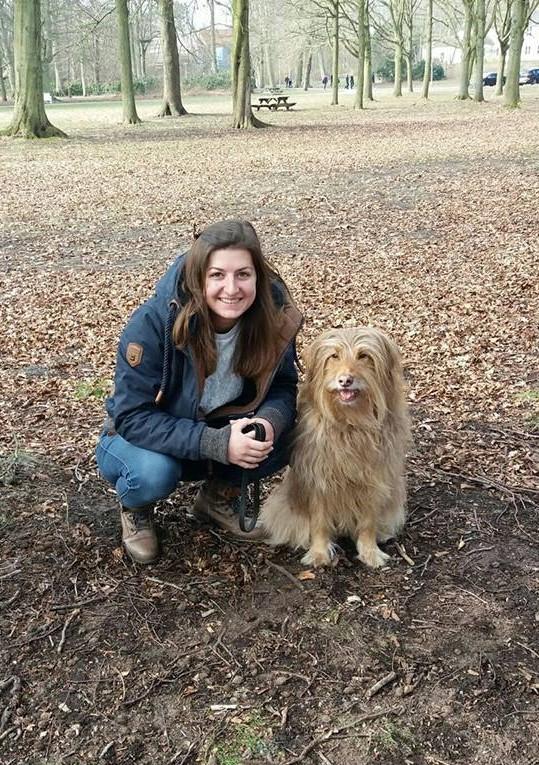 Stephanie and her dog, Frey